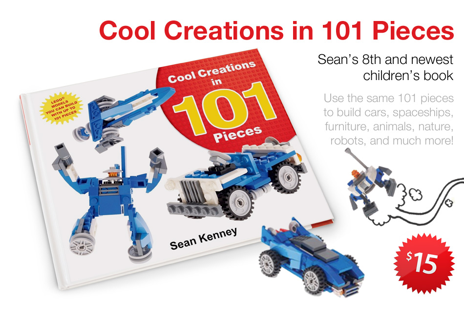 'Cool Creations in 101 pieces', Sean's eighth children's book