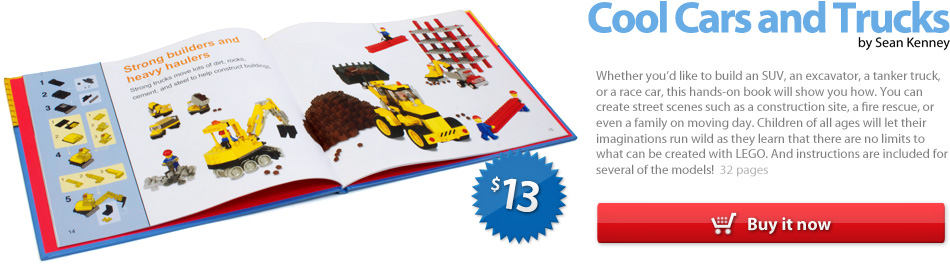 the LEGO book : Cool Cars and Trucks, by Sean Kenney (2009)
