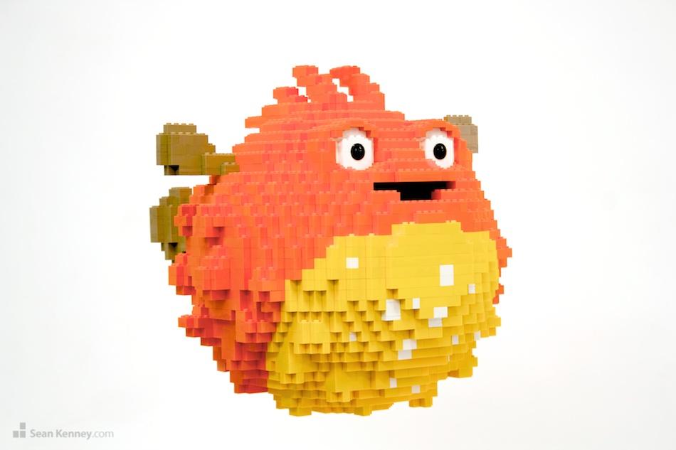 Sean Kenney Art With LEGO Bricks Bitly Pufferfish