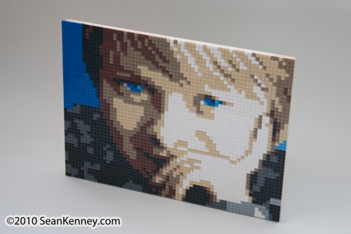 Children's portrait, LEGO bricks, artist Sean Kenney
