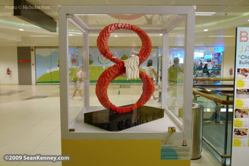 LEGO sculptures asian airport terminal singapore
