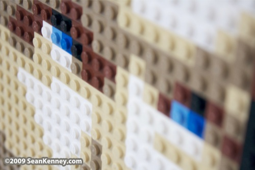 LEGO engagement portrait by Sean Kenney