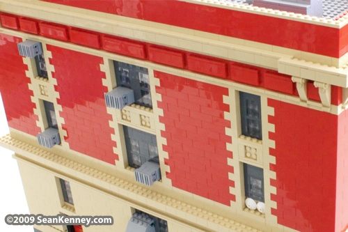 Ghostbusters Firehouse Ladder 18 built with LEGO bricks by Sean Kenney