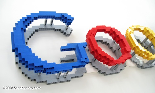 LEGO Google logo.  Sculpture by Sean Kenney