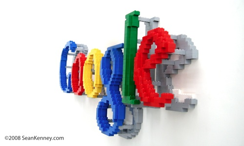 Google LEGO logo. To translate the two-dimensional logo into a