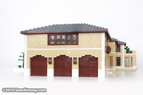 House in the Hamptons: LEGO sculpture by artist Sean Kenney