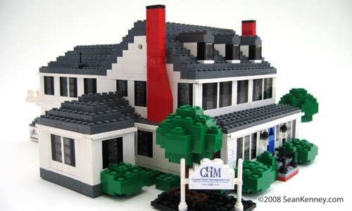 Historic house, LEGO bricks.  By Sean Kenney.  LEGO house.  LEGO home.