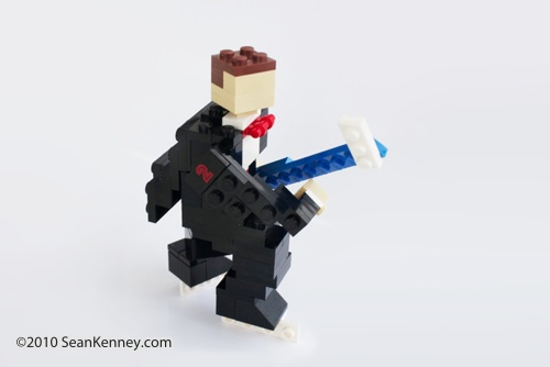 LEGO Groom, sculpture by Sean Kenney