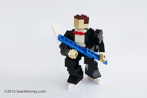 Groom LEGO sculpture by Sean Kenney
