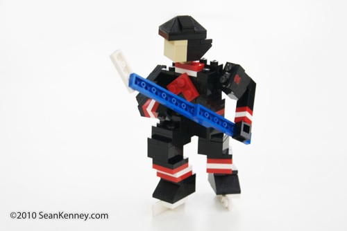 LEGO Hockey Player, sculpture by Sean Kenney