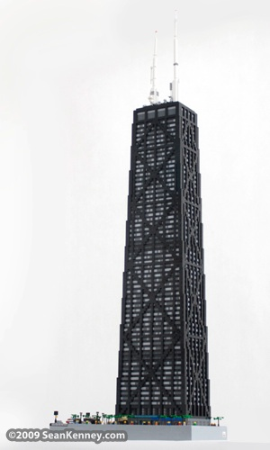 John Hancock Center LEGO model by artist Sean Kenney