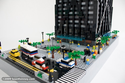 John Hancock Center LEGO sculpture by artist Sean Kenney