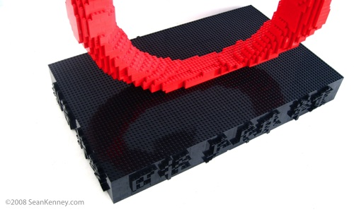 A tribute to China and the 2008 Olympic Games - Art with LEGO bricks by Sean Kenney