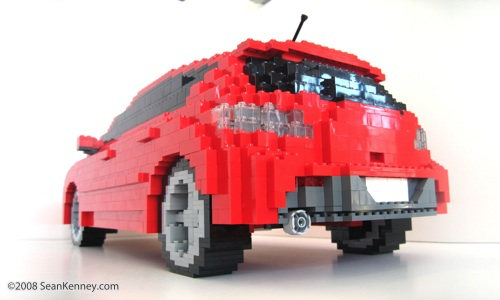 LEGO Mazda Mazdaspeed3 sculpture by Sean Kenney