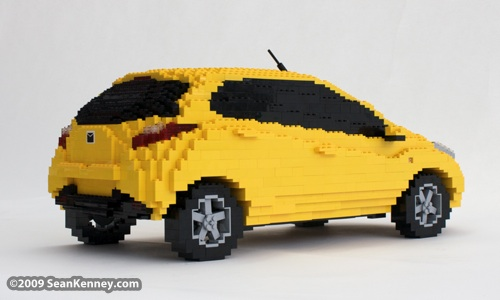 LEGO Mazda2 Mazda car sculpture LEGO artist Sean Kenney : Art with LEGO bricks
