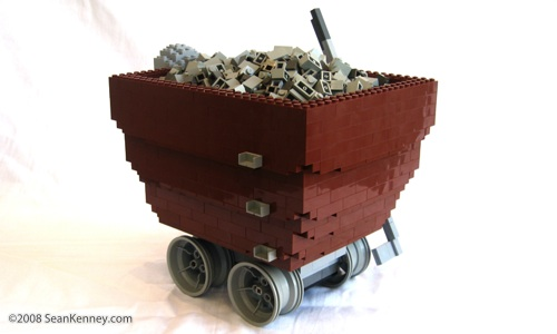 LEGO Mine Cart sculpture