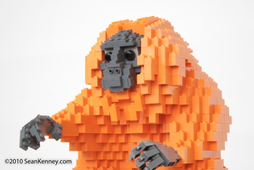 LEGO sculpture Sean Kenney golden lion tamarins monkey monkeys philadephila philly zoo creatures of habitat