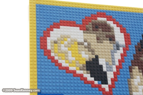 LEGO portrait of Spencer Pratt and Heidi Montag by Sean Kenney.  LEGO legos portrait portraits.