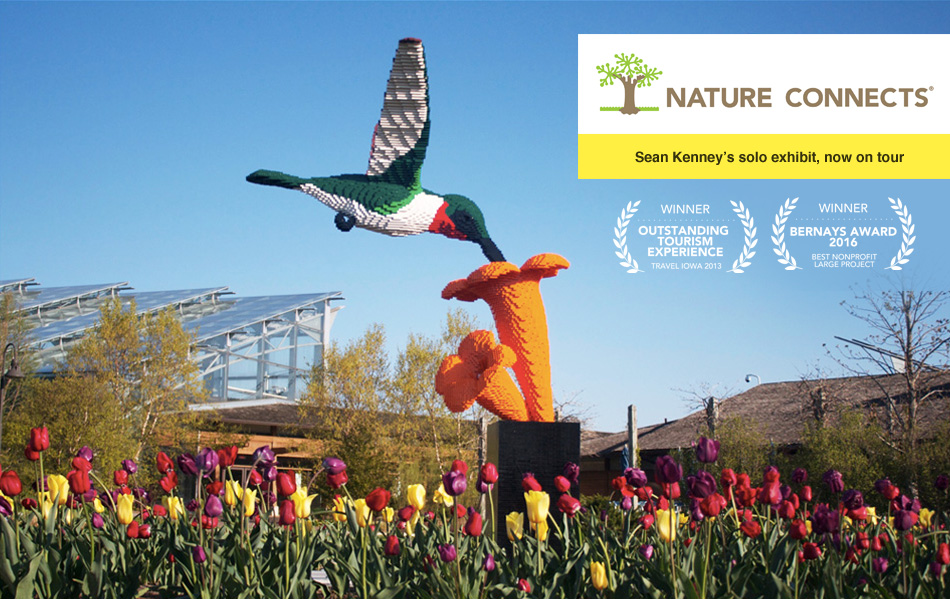 Nature Connects: Sean Kenney's award-winning, record-breaking exhibition.  Now on tour across North America