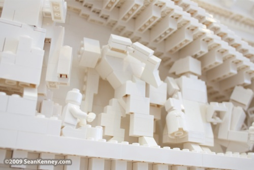 New York Stock Exchange, LEGO brick, artist Sean Kenney, building, manhattan, wall street