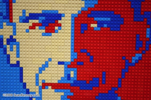 LEGO master craftsman creates Barack Obama's image on inauguration day