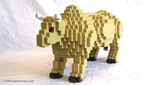 Bull LEGO sculpture