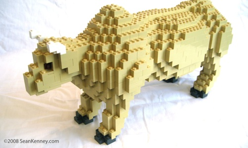 Ox LEGO sculpture