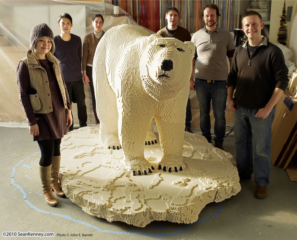 LEGO polar bear - Sean Kenney and his team