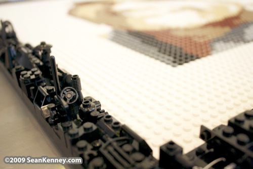 LEGO portrait by Sean Kenney