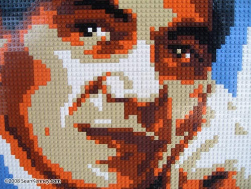 LEGO portrait of Edson Moura