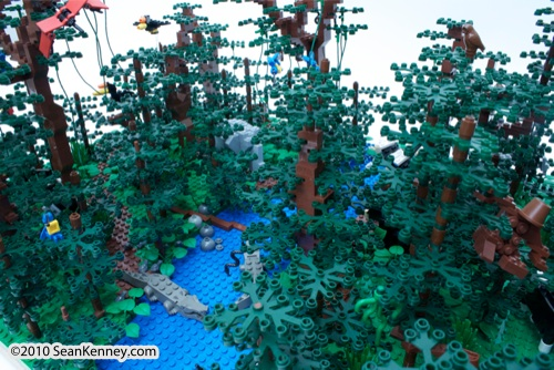 LEGO sculpture Sean Kenney borneo rainforest destruction deforestation logging palm oil philadephila philly zoo creatures of habitat