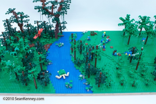 LEGO sculpture Sean Kenney borneo replanting rainforest destruction deforestation logging palm oil philadephila philly zoo creatures of habitat