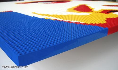 Giant LEGO portrait