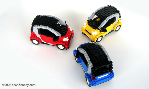 LEGO Smart Car by artist Sean Kenney