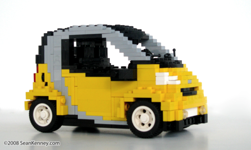 Smart Car built with LEGO bricks by Sean Kenney