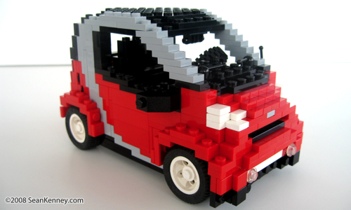 Smart ForTwo Tridon built with LEGO bricks by artist Sean Kenney