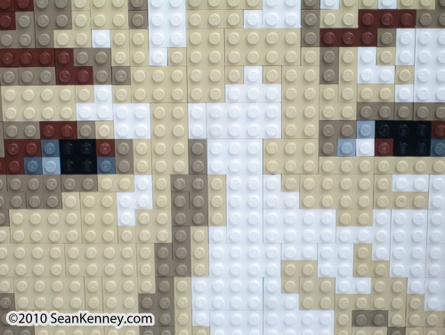 Portrait with LEGO bricks by artist Sean Kenney