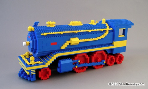 LEGO train on 30 Rock.  LEGO Steam Train Engine.