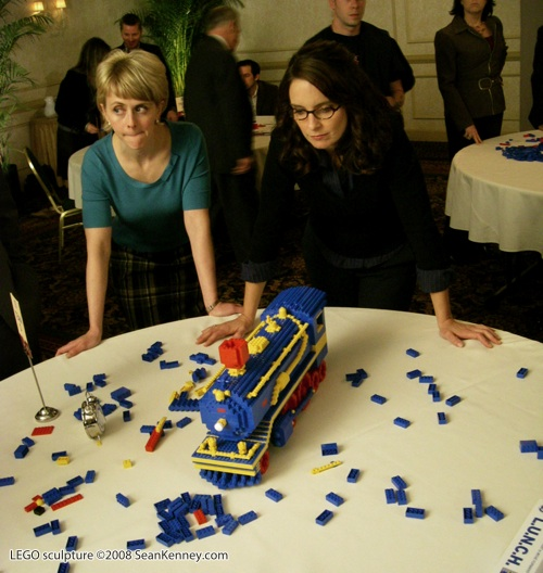 Sean Kenney Tina Fey LEGO train 30 Rock
