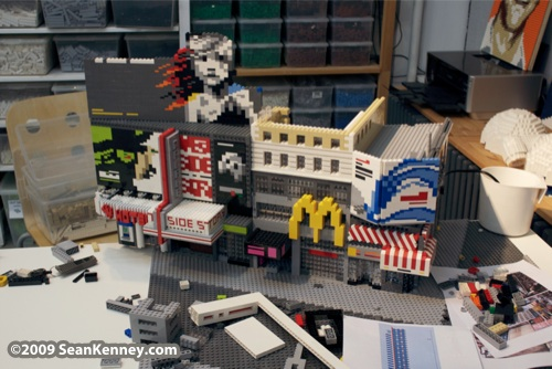 Times Square : LEGO model by Sean Kenney.  New York City, the Brick Apple