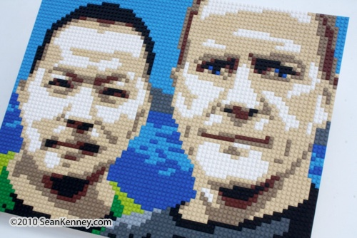 LEGOs Portrait by Sean Kenney