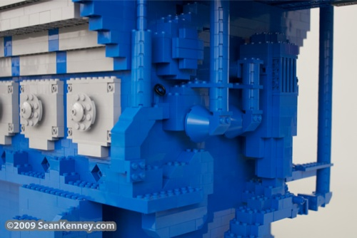 Wartsila W�rtsil� 34SG engine, LEGO sculpture, Art with LEGO bricks, artist Sean Kenney