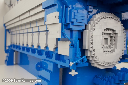 Wartsila Wärtsila 34SG engine, LEGO sculpture, Art with LEGO bricks, artist Sean Kenney