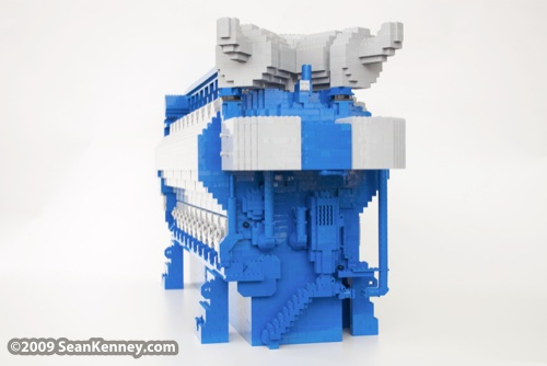 Wartsila W�rtsila 34SG engine, LEGO sculpture, Art with LEGO bricks, artist Sean Kenney