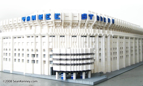 LEGO stadium - Yankee Stadium built with LEGO bricks