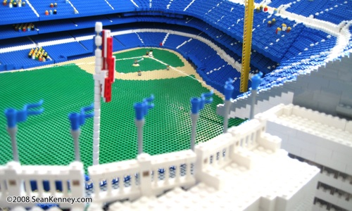 Facade: Yankee Stadium built with LEGO bricks