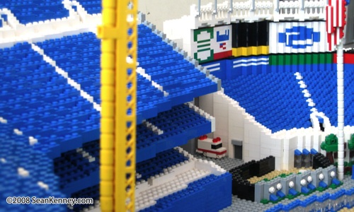Model of Yankee Stadium built with LEGO bricks