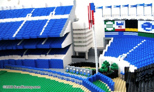 Yankee LEGO Stadium built with LEGO bricks