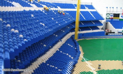 Sean Kenney's Yankee Stadium built with LEGO bricks