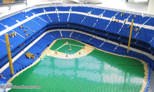 Yankee Stadium built with LEGO bricks by Sean Kenney